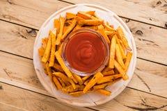 Gesunde Süßkartoffel, gebackene Fischrogen lizenzfreies stockfoto