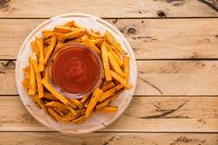 Gesunde Süßkartoffel, gebackene Fischrogen stockfoto