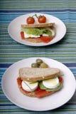 Gesunde Sandwiche Lizenzfreie Stockfotos