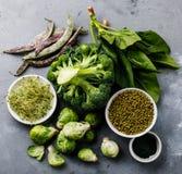 Gesunde saubere Essenauswahl des grünen Lebensmittels Stockbild