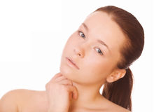 Gesunde saubere Haut der Frau Lizenzfreies Stockfoto