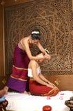 Gesunde siamesische Massage Stockbild