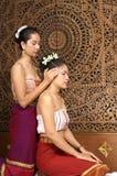 Gesunde siamesische Massage Stockfotografie
