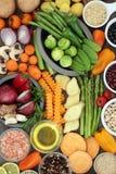 Gesunde Superlebensmittel-Auswahl Stockbild