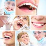 Gesunde Zähne und zahnmedizinischer Doktor stockfotos