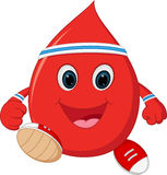 Gesunder Blutkarikaturbetrieb Lizenzfreies Stockfoto