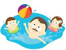 Gesunder Familienlebensstil lizenzfreie abbildung