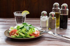 Gesunder frischer Salat für das Mittagessen Lizenzfreies Stockbild