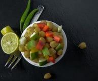 Gesunder Gemüsesalat Stockfoto