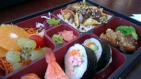 Gesunder Japaner Bento mit Früchten lizenzfreies stockbild