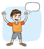 Gesunder Junge mit Text Lizenzfreie Stockbilder