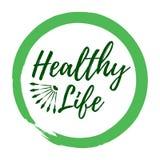 Gesunder Lebenaufkleber Art und Wellness-Lebensstilausweise Eco Stockfoto