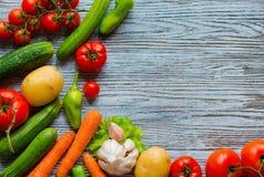 Gesunder Lebensmittel- und Kopienraum, Frischgemüse Stockfotos