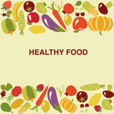 Gesunder Lebensmittelhintergrund - Illustration Lizenzfreie Stockfotografie