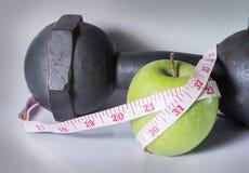 Gesunder Lebensstil, Übung und Frucht Stockfoto