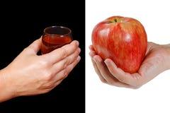 Gesunder Lebensstil - eine Alternative zum Trinken Lizenzfreie Stockfotos