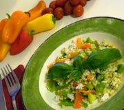 Gesunder Mittelmeersalat Stockfoto