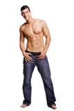 Gesunder muskulöser junger Mann Stockfoto