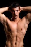 Gesunder muskulöser junger Mann Stockbilder