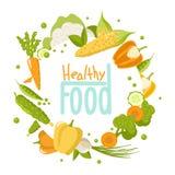 Gesunder Nahrungsmittelsatz auf wei?em Hintergrund vektor abbildung