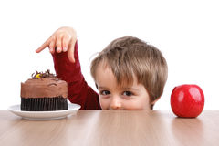Ernährungswahl Lizenzfreies Stockfoto