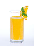 Gesunder orange Smoothie Stockbild