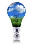Gesunder Planet unter Verwendung der grünen Energie zur Funktion Lizenzfreie Stockbilder