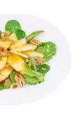 Gesunder Salat mit Apfel und Walnüssen Lizenzfreie Stockbilder