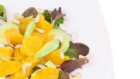 Gesunder Salat mit Avocado und Acajoubaum Stockbilder