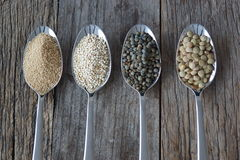 Gesunder Samen mögen Körner stockfotos
