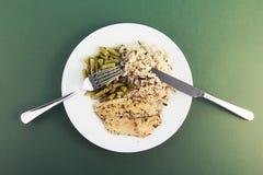 Gesundes Abendessen Stockfoto