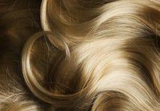 Gesundes blondes Haar Stockfoto
