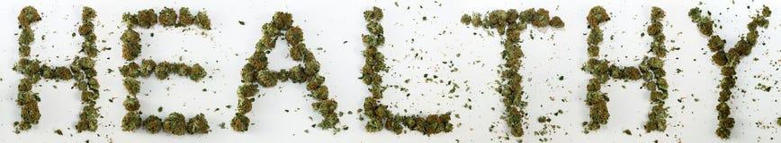 Gesundes buchstabiert mit Marihuana Lizenzfreie Stockfotos