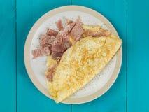 Gesundes Frühstück Ham Omelette Food Stockfotos