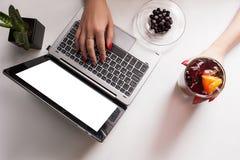 Gesundes Fruchtlebensmittelgetränklebensstil-Blogkonzept Lizenzfreie Stockfotos