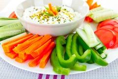 Bad und Gemüse lizenzfreies stockbild