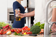 Gesundes Kochen lizenzfreies stockbild