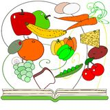 Gesundes kochendes Kochbuch Lizenzfreie Stockfotos