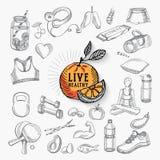 Gesundes Leben, Ikonendesign Stockfotografie