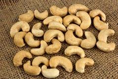 Gesundes Lebensmittel, Acajounüsse als Lebensmittelhintergrund Stockfotos