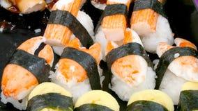 Gesundes Lebensmittel der Sushi stockfotos