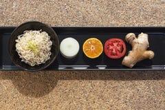 Gesundes Lebensmittel eingestellt mit Nudeln Lizenzfreies Stockfoto