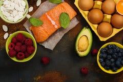Gesundes Lebensmittel für Gehirn und gutes Gedächtnis Lizenzfreies Stockfoto