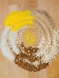 Gesundes Lebensmittel, Getreide, Buchweizen Stockbilder