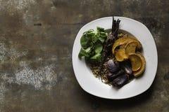 Gesundes Lebensmittel in minimalem Lizenzfreie Stockfotografie