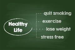 Gesundes Lebensstil-Diagramm Stockfotografie