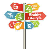 Gesundes Lebensstil-Zeichen Lizenzfreie Stockbilder