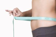 Gesundes Lebensstilkonzept, Frauenkarosserie Stockfoto