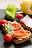 Gesundes Morgen-Sandwich Lizenzfreies Stockbild