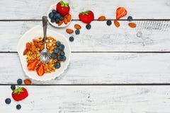 Gesundes nährendes Frühstückskonzept Lizenzfreie Stockfotografie